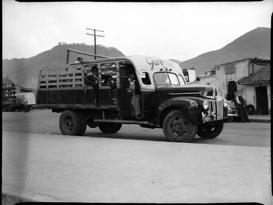 Camiones en San Victorino