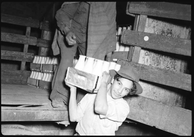 Crónica sobre la leche en 1948