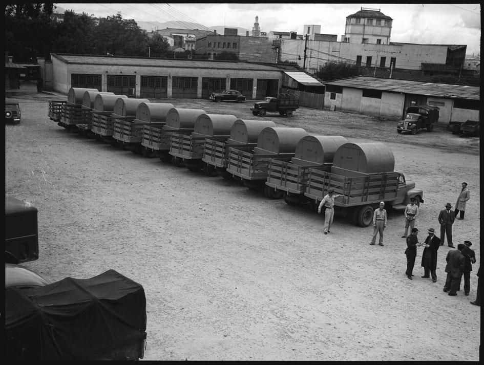 carros de la basura en 1948, bogota
