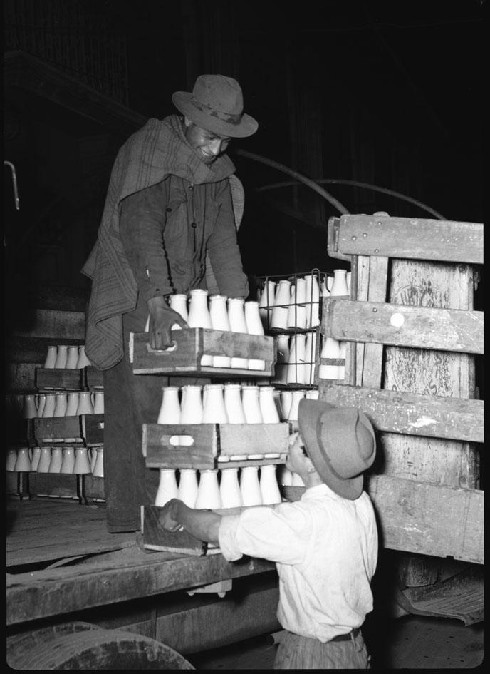 Expendio de leche en Bogotá, 1948
